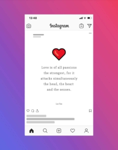 Love Quote Instagram Post Template