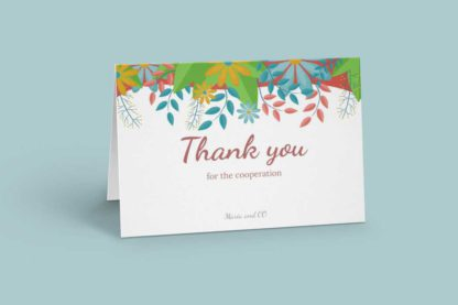 Colorful Floral Greeting Card Template