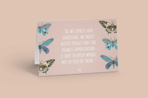 Butterfly Quote Greeting Card Template