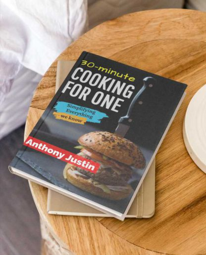 Simple Cooking Book Cover Design Template