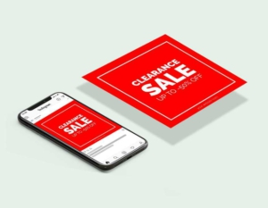 Free Clearance Discount Sale Instagram Post Template