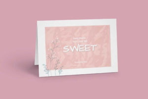 Snowberries Greeting Card Template