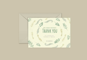 Floral Pattern Greeting Card Template