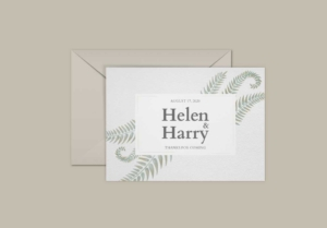 Floral Watercolor Greeting Card Template