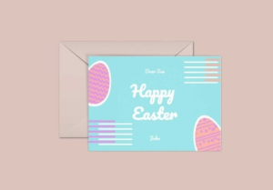 Neon Easter Greeting Card Template