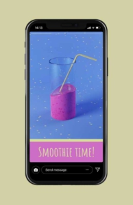 Animated Smoothie Instagram Story