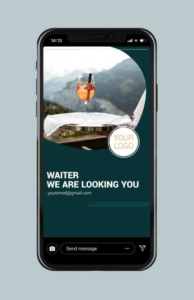 Waiter We Are Looking You Instagram Story