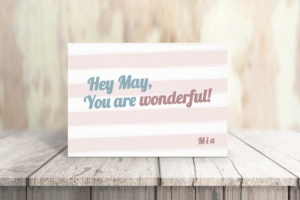 Wonderful and Positive Greeting Card Template