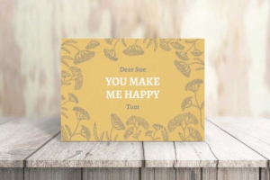 Sunny Wildflower Greeting Card Template