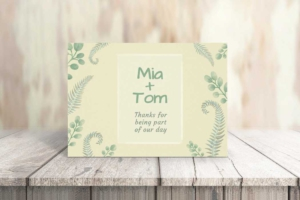 Wedding and Wild Plants Greeting Card Template