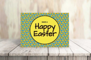 Chicken Pattern Easter Greeting Card
