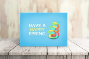 Happy Spring Greeting Card Template