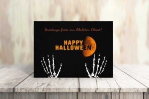 Halloween Concept Greeting Card Template